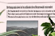 Rettungsmission in brasilianischen Regenwald entsendet